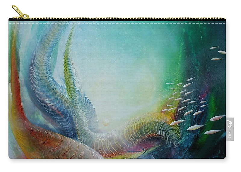 Underseea Carry-all Pouch featuring the painting Serpula Spiralis by Drazen Pavlovic