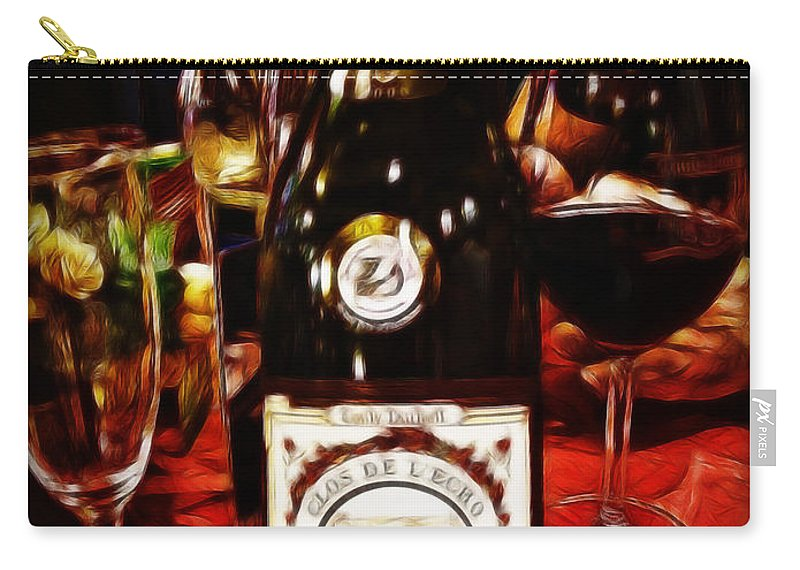 Wine Carry-all Pouch featuring the photograph Serving Time by Joan Minchak