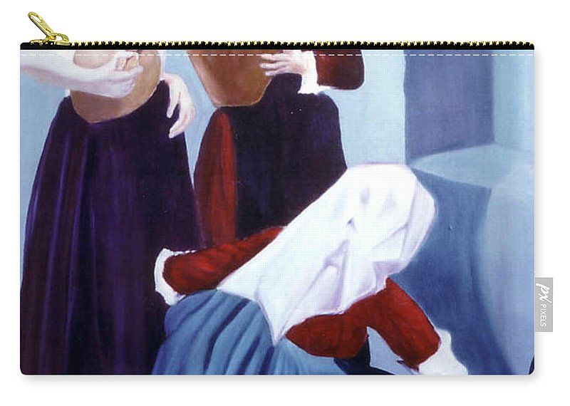 Oil Carry-all Pouch featuring the painting Sete by Giovanni Marco Sassu