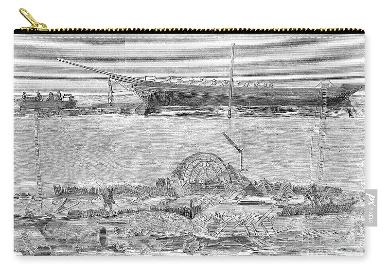 1858 Carry-all Pouch featuring the photograph Sevastopol: Diver, 1858 by Granger