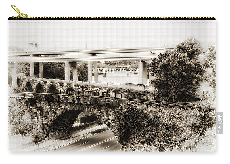 Seven Bridges View Carry-all Pouch featuring the photograph Seven Bridges View by Bill Cannon