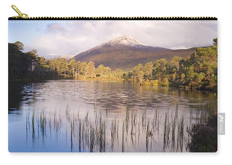 Aesthetic Carry-all Pouch featuring the photograph Sgurr Na Lapaich From Loch Salach A Ghiubhais In Glen Affric by Howard Kennedy