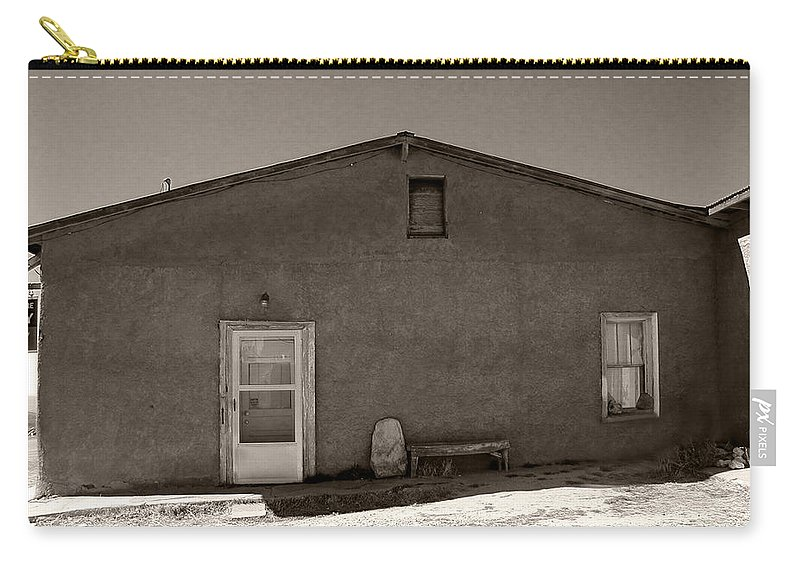 New Mexico Carry-all Pouch featuring the photograph Shaded Adobe by Kathleen Grace