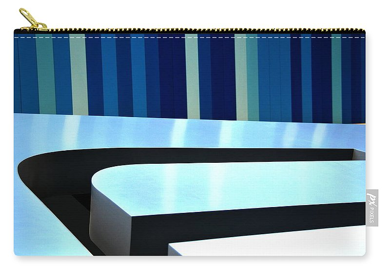 Blue Carry-all Pouch featuring the photograph Shades Of Blue by Floyd Menezes