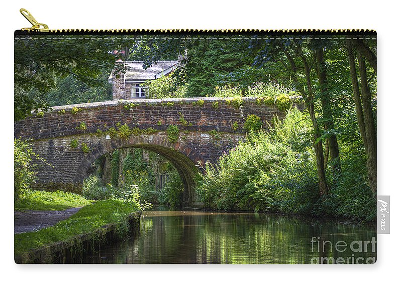 Canal Carry-all Pouch featuring the photograph Shades Of Green. by Clare Bambers