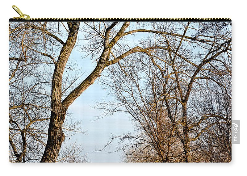 Fairmont Ridge Carry-all Pouch featuring the photograph Shadow Cliffs by Karen W Meyer