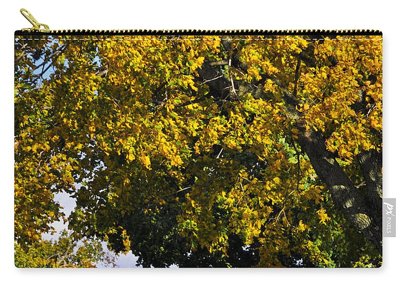 Cemetery Carry-all Pouch featuring the photograph Shadow On The Edge by Trish Tritz