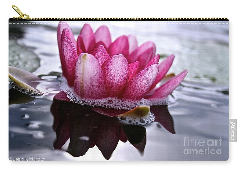 Floral Carry-all Pouch featuring the photograph Shadows by Susan Herber