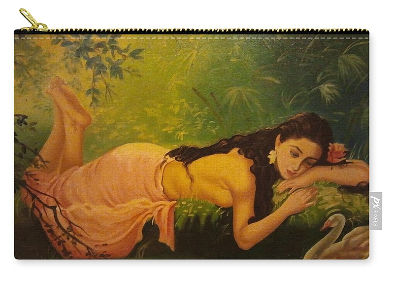Carry-all Pouch featuring the painting Shakuntala by Charul Dalal