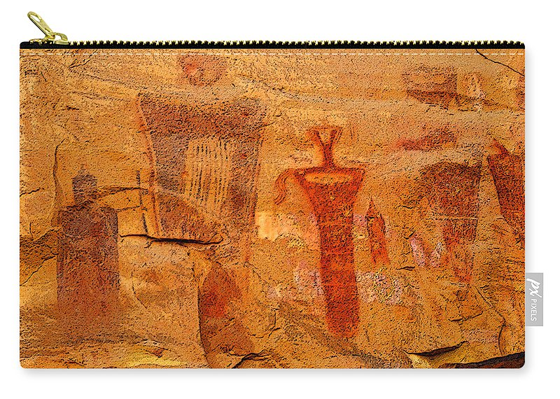 Art Carry-all Pouch featuring the painting Shamans Of The Rock by David Lee Thompson