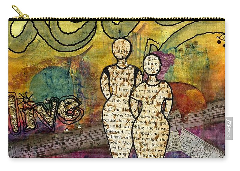Woman Carry-all Pouch featuring the mixed media Sharing Grace by Angela L Walker