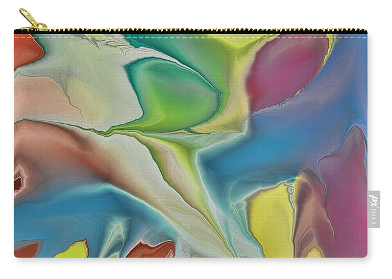 Abstract Carry-all Pouch featuring the digital art Sharks In Life by Deborah Benoit