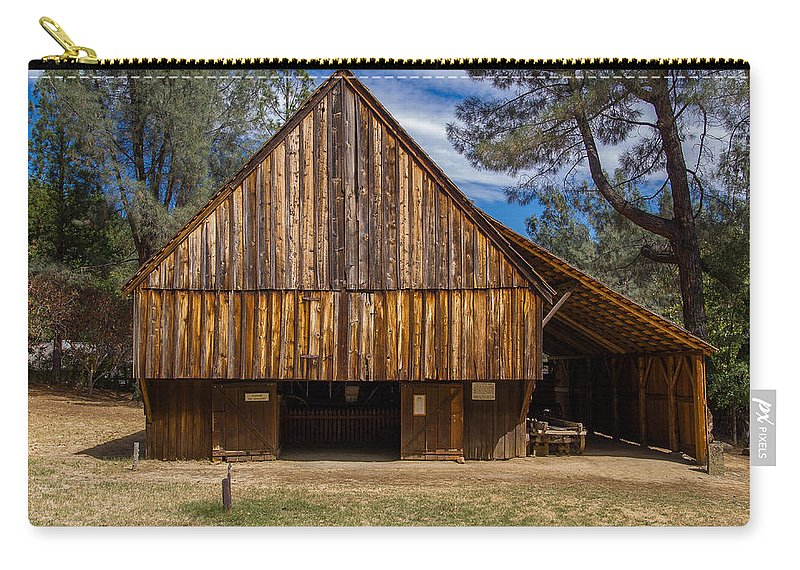 Shasta Historical State Park Carry-all Pouch featuring the photograph Shasta Barn by Greg Nyquist