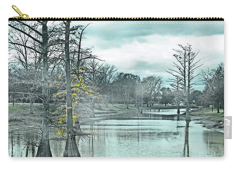 Shaw Carry-all Pouch featuring the digital art Shaw Mississippi by Lizi Beard-Ward