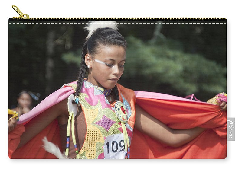 Photography Carry-all Pouch featuring the photograph Shawl Dancer 109 by Steven Natanson