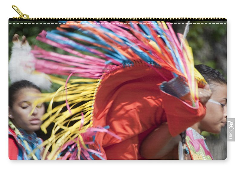 Photography Carry-all Pouch featuring the photograph Shawl Dancer by Steven Natanson