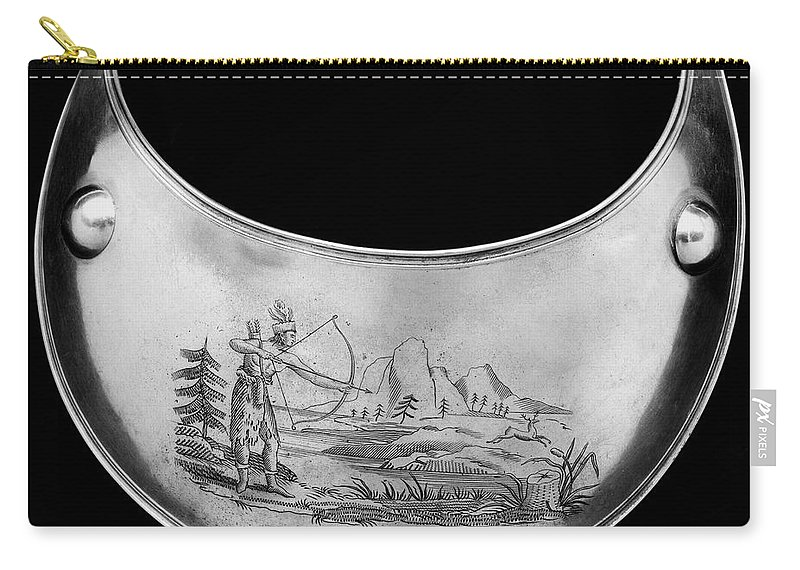19th Century Carry-all Pouch featuring the photograph Shawnee Chest Ornament by Granger
