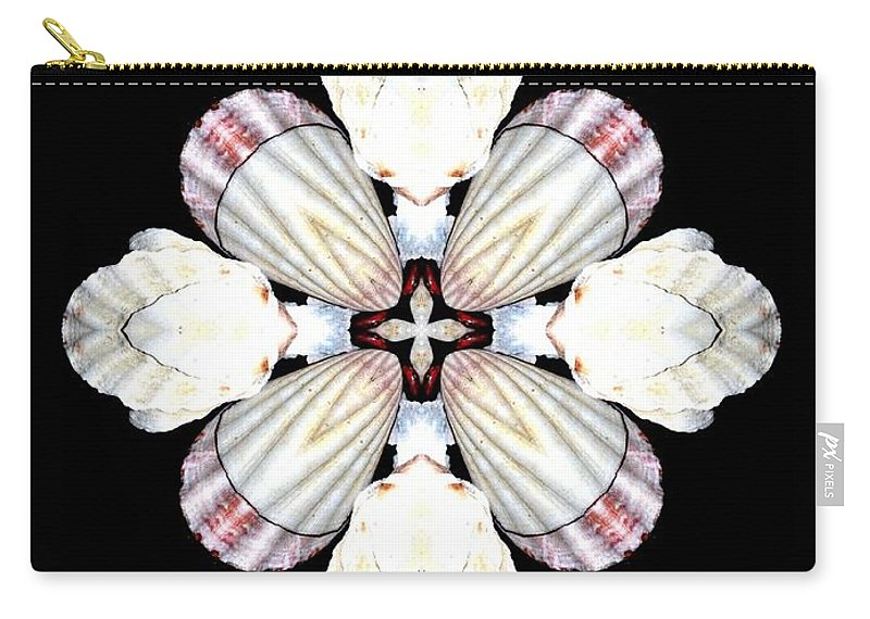 Shell Art Carry-all Pouch featuring the digital art Shell Art 2 by Maria Urso