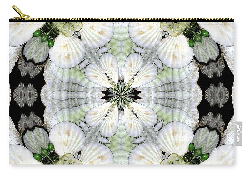 Shell Art Carry-all Pouch featuring the digital art Shell Art 4 by Maria Urso
