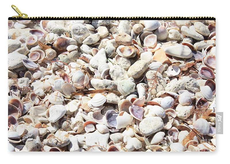 Shells Carry-all Pouch featuring the photograph Shells by Carol Groenen