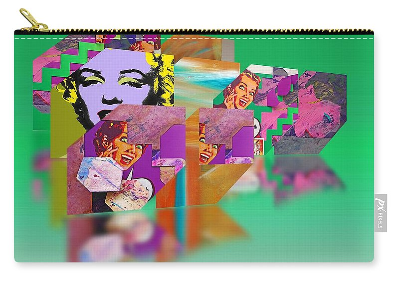 Scream Carry-all Pouch featuring the painting Shocking Green by Charles Stuart