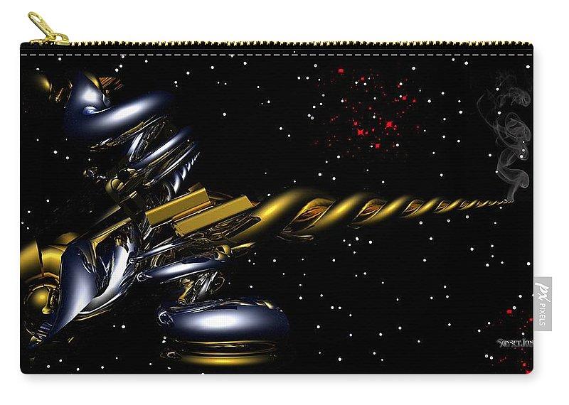 Gun Carry-all Pouch featuring the digital art Shoot For The Stars by Robert Orinski
