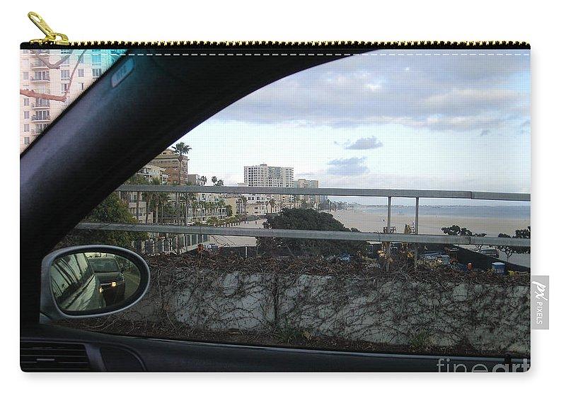 Auto Car Photo Long Beach California Ocean Blvd Shoreline Scenic View Carry-all Pouch featuring the photograph Shoreline Drive by RJ Aguilar