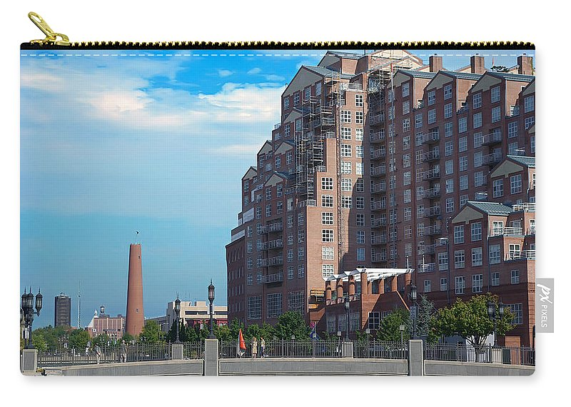 2d Carry-all Pouch featuring the photograph Shot Tower - Baltimore by Brian Wallace
