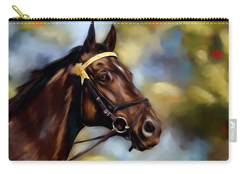 Horse Carry-all Pouch featuring the painting Show Horse Painting by Michelle Wrighton
