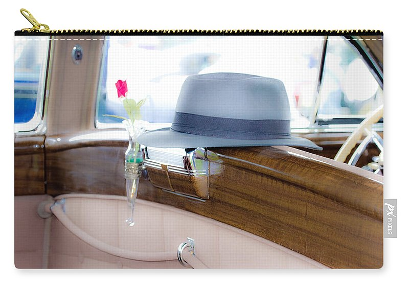 Car Art Carry-all Pouch featuring the photograph Showing His Style by Marie Jamieson