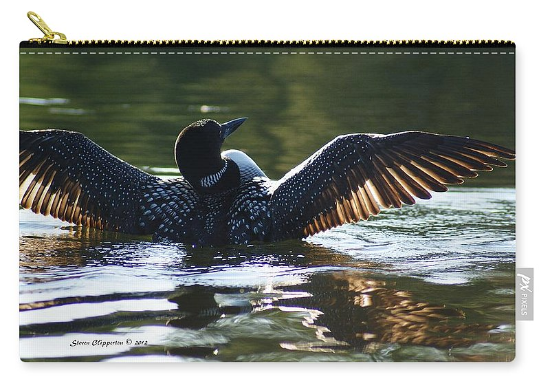 Loon Carry-all Pouch featuring the photograph Showing Off by Steven Clipperton