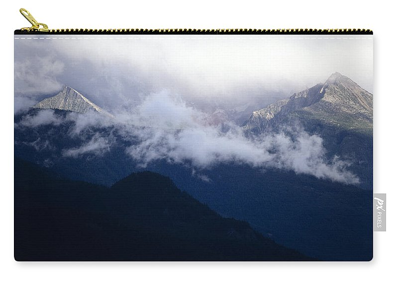 Americas Carry-all Pouch featuring the photograph Shroud Mountain Peaks by Roderick Bley