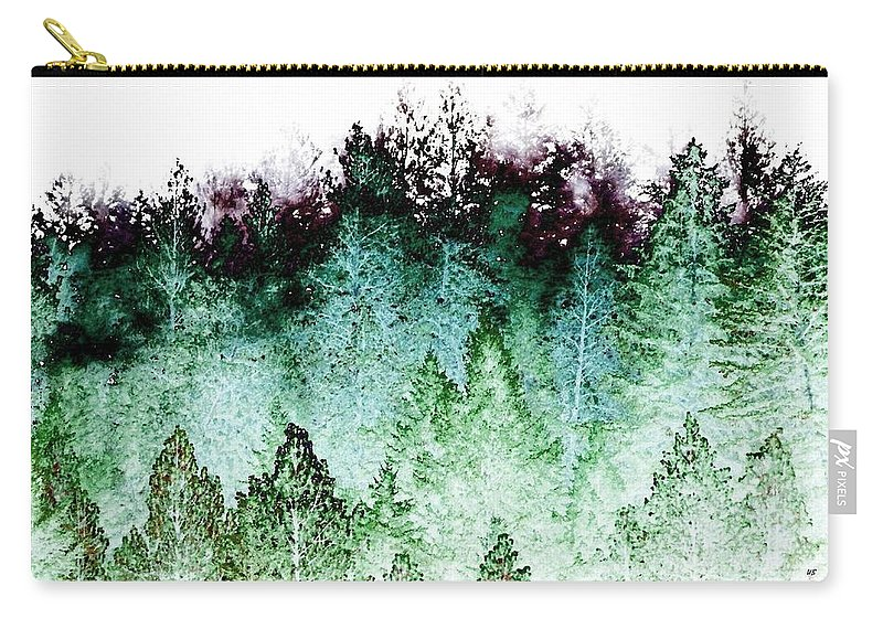 Shrouded In Fog Carry-all Pouch featuring the digital art Shrouded In Fog by Will Borden
