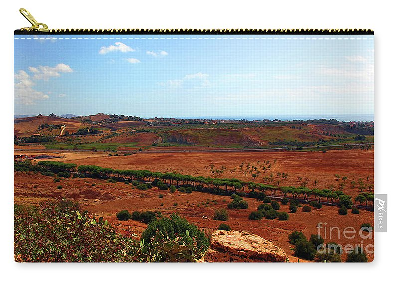 Sicily Carry-all Pouch featuring the photograph Sicilian Landscape by Madeline Ellis
