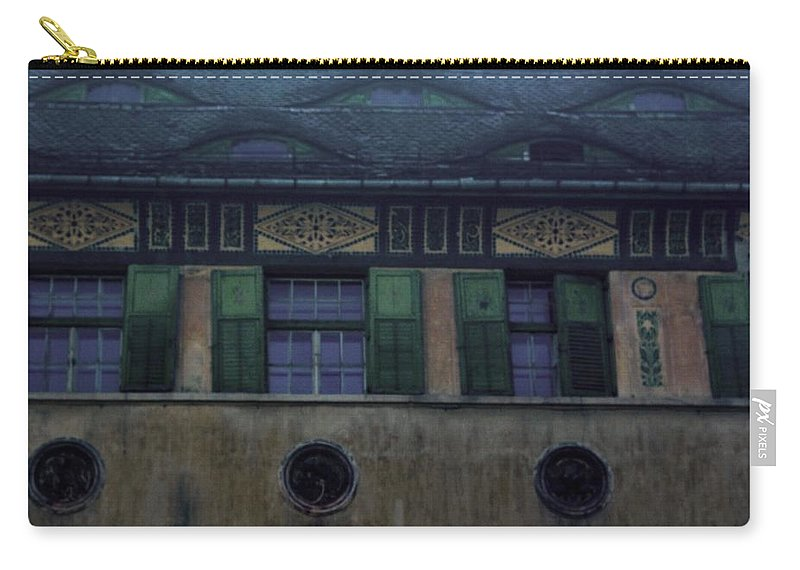 Sighisoara Carry-all Pouch featuring the photograph Sighisoara Old Town Eyes by Amalia Suruceanu