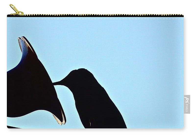 Birds Carry-all Pouch featuring the photograph Silhouette by Diana Hatcher