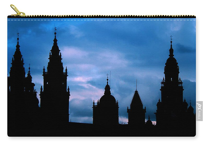 Spain Carry-all Pouch featuring the photograph Silhouette Of Spanish Church by Jasna Buncic