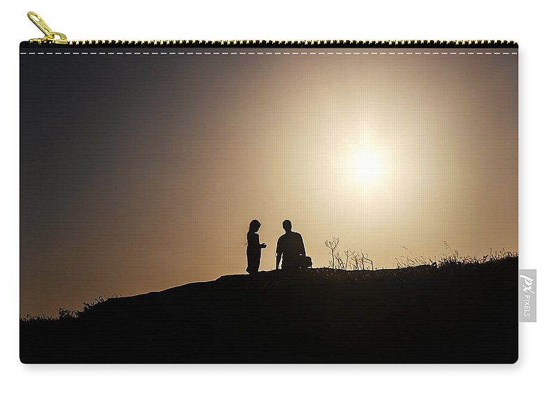 Two Carry-all Pouch featuring the photograph Silhouettes by Joana Kruse