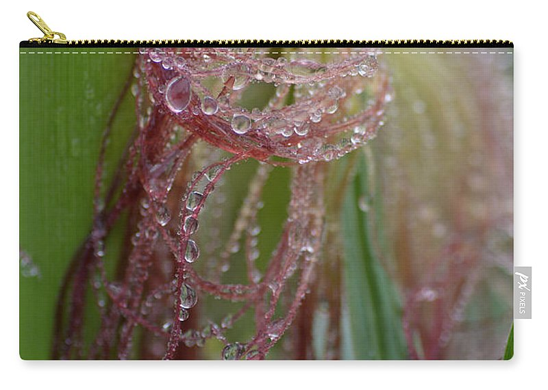 Abstract Carry-all Pouch featuring the photograph Silk And Pearls by Susan Capuano
