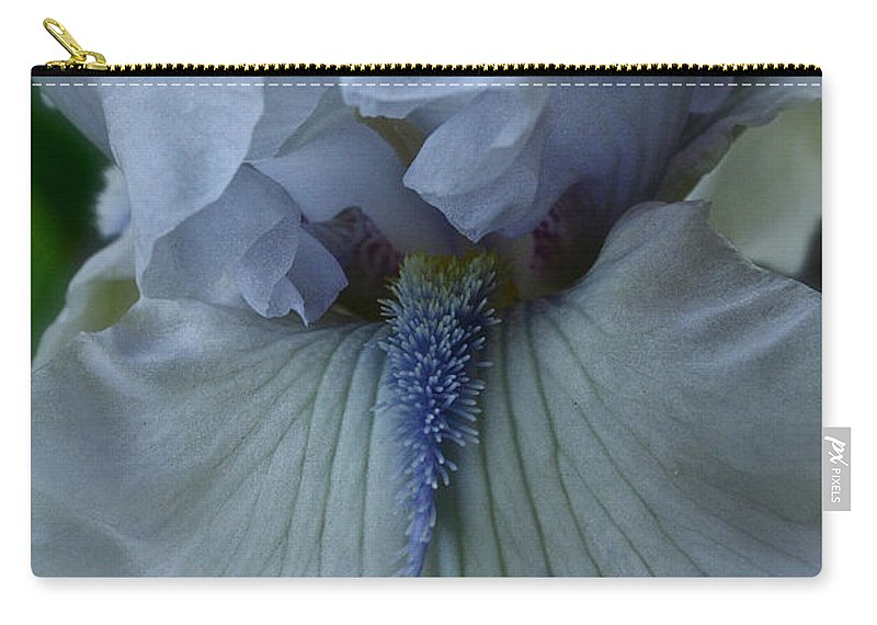Plant Carry-all Pouch featuring the photograph Silky Iris by Susan Herber