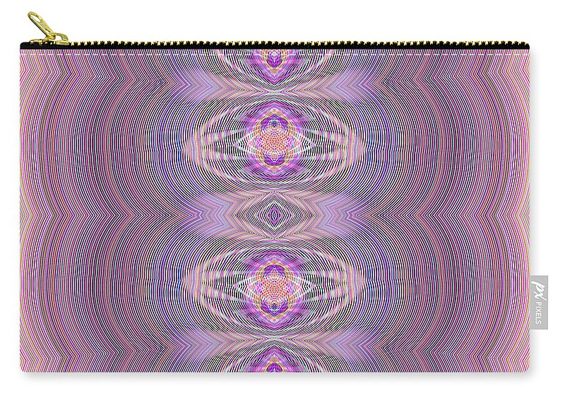 Abstract Carry-all Pouch featuring the digital art Silky Violet by Georgiana Romanovna
