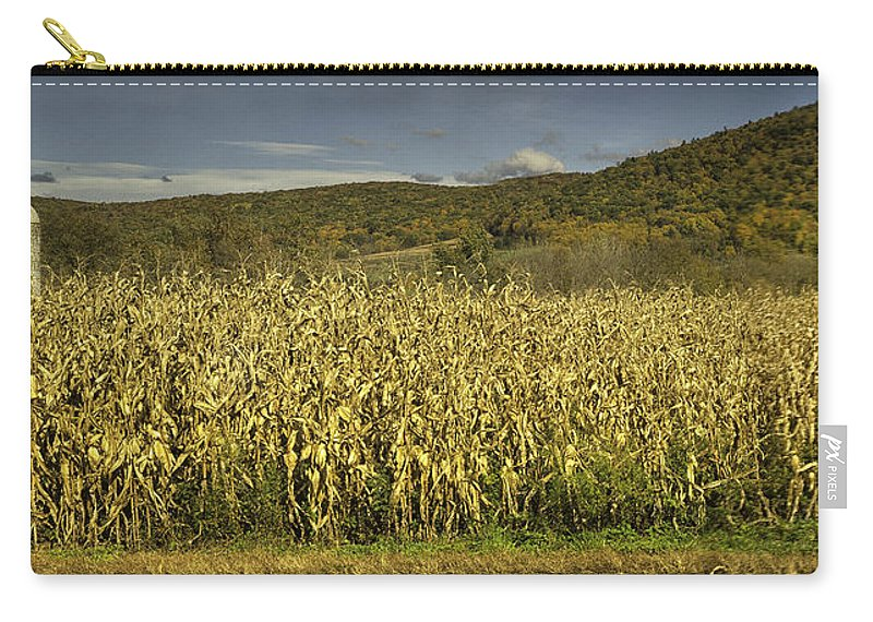 Landscape Carry-all Pouch featuring the photograph Silo Panorama by Fran Gallogly