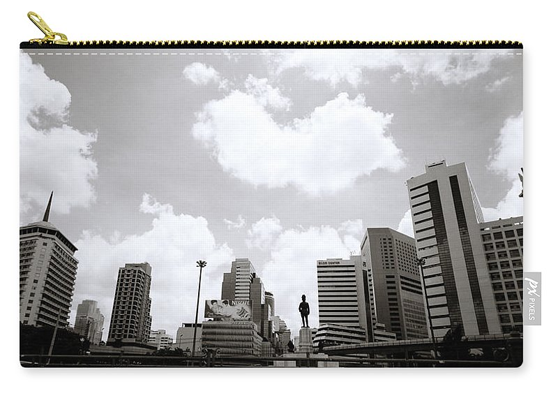 Modernity Carry-all Pouch featuring the photograph Silom by Shaun Higson