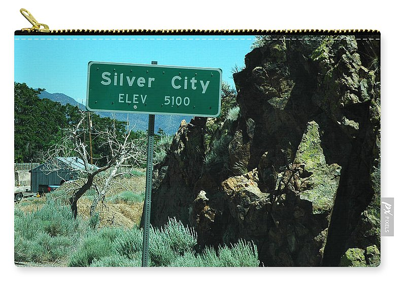Usa Carry-all Pouch featuring the photograph Silver City Nevada by LeeAnn McLaneGoetz McLaneGoetzStudioLLCcom