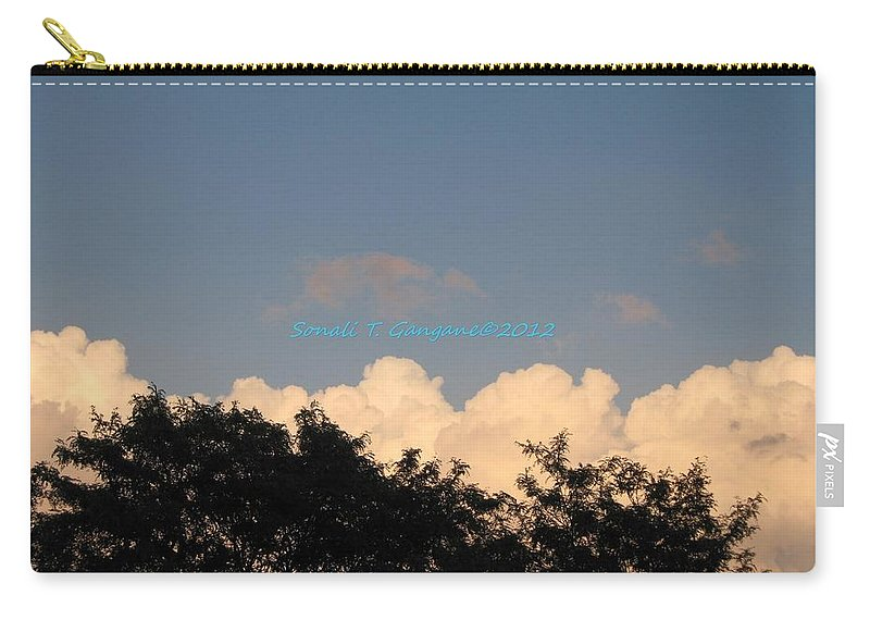 Silver Clouds Carry-all Pouch featuring the photograph Silver Layer by Sonali Gangane