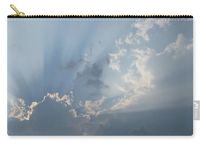 Silver Lining Carry-all Pouch featuring the photograph Silver Lining by Kimberly Castor