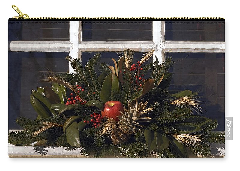 Wreath Carry-all Pouch featuring the photograph Simple Joys by Sally Weigand