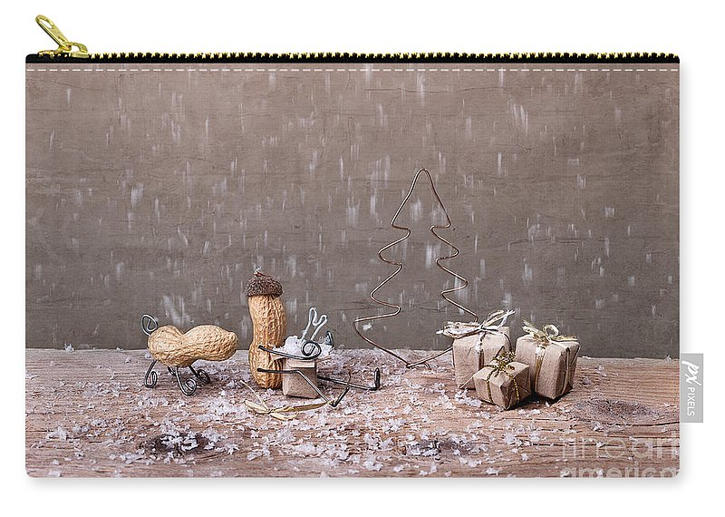 Peanut Carry-all Pouch featuring the photograph Simple Things - Christmas 07 by Nailia Schwarz
