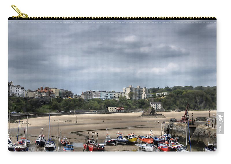 Tenby Pembrokeshire Carry-all Pouch featuring the photograph Simply North Beach From Tenby Harbour by Steve Purnell