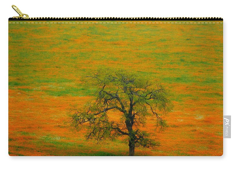 Single Carry-all Pouch featuring the photograph Single Tree by Susanne Van Hulst